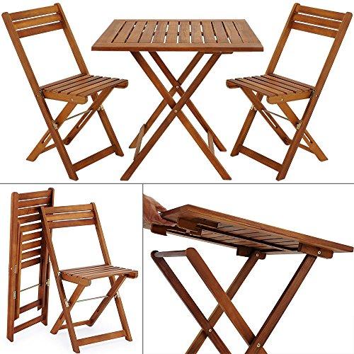 Balkonset Akazie 2 Stühle 1 Tisch klappbar