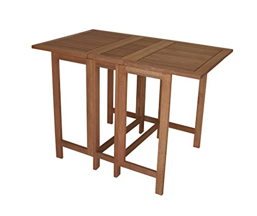 Doppelklappentisch 107x65x74cm aus Eukalyptus