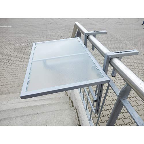 baumarkt direkt Balkonhängetisch, Stahl/Glas, klappbar 40 cm, 60 cm