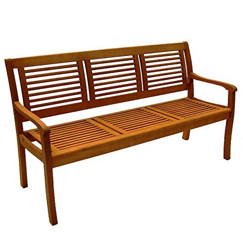 Casaya Bank Paolo 3-Sitzer aus Eukalyptus Hartholz