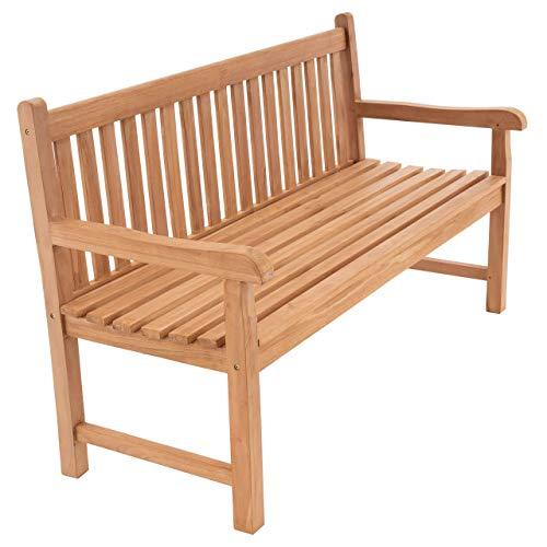 Divero 3-Sitzer Bank Teak-Holz