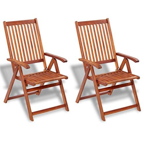 Festnight Balkonstühle aus Akazienholz