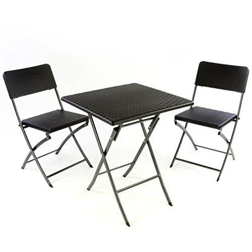 Nexos 3er Set Garnitur Tischset mit 2 Stühlen