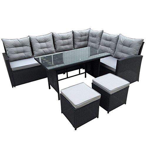 Svita Monroe Polyrattan Rattan-Lounge