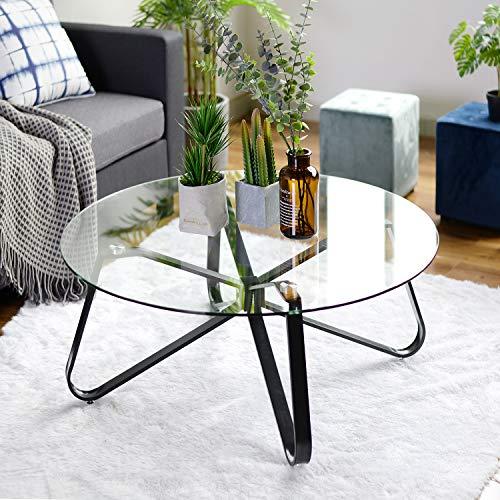 Runder Tisch aus Gehärtetem Glas